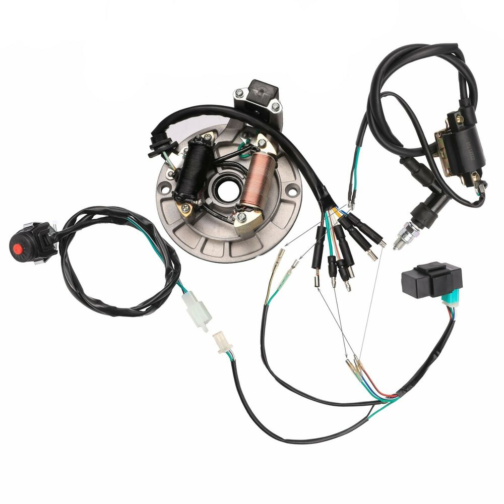 hight resolution of details about kick start electrics wire harness cdi coil dirt bike stator magneto 50 150cc