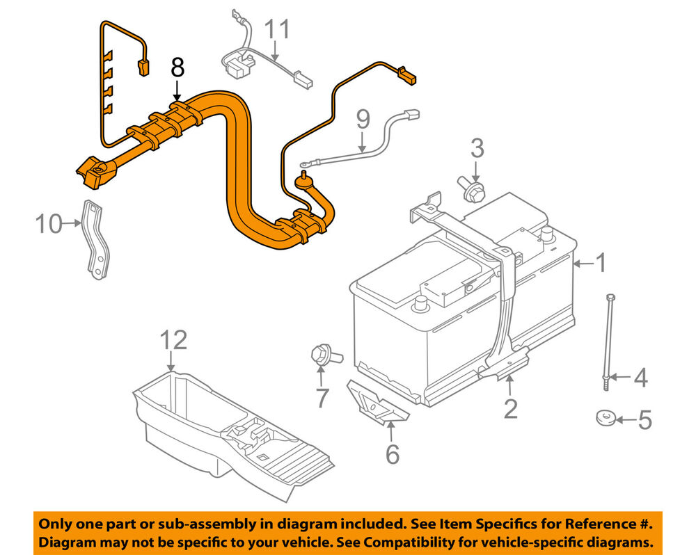 hight resolution of details about bmw oem 12 14 x6 3 0l l6 battery wiring harness 61129292885