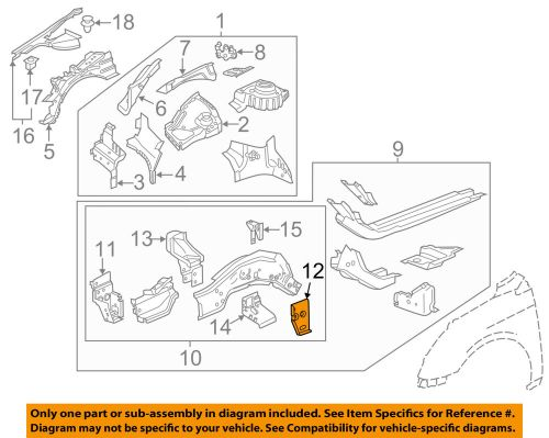 small resolution of details about gm oem fender closure panel right 22911867