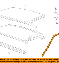 details about gm oem roof drip weatherstrip seal molding 15012833 [ 1000 x 798 Pixel ]
