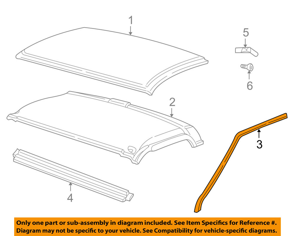 medium resolution of details about gm oem roof drip weatherstrip seal molding 15012833