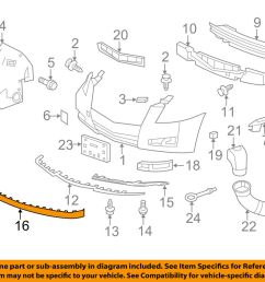 details about cadillac gm oem 08 14 cts front bumper spoiler lip chin splitter 15272090 [ 1000 x 798 Pixel ]