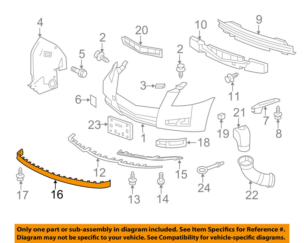 hight resolution of details about cadillac gm oem 08 14 cts front bumper spoiler lip chin splitter 15272090