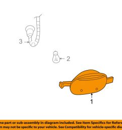 details about gmc gm oem 02 09 envoy corner lamps front cornering lamp left 15937713 [ 1000 x 798 Pixel ]
