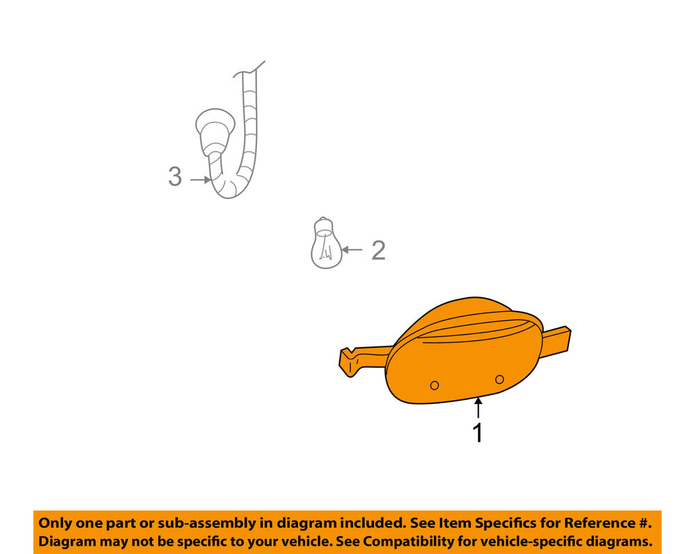 medium resolution of details about gmc gm oem 02 09 envoy corner lamps front cornering lamp left 15937713