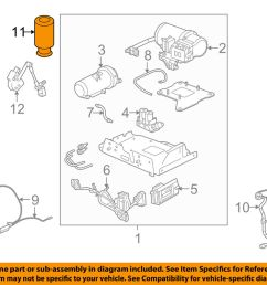 details about hummer gm oem 03 09 h2 rear air spring 15938306 [ 1000 x 798 Pixel ]