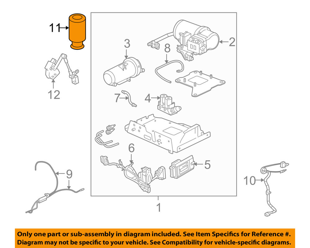 hight resolution of details about hummer gm oem 03 09 h2 rear air spring 15938306