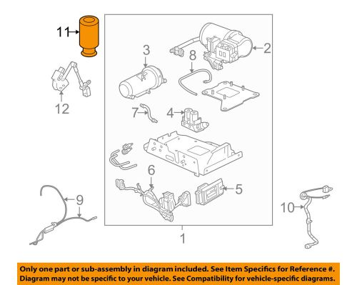 small resolution of details about hummer gm oem 03 09 h2 rear air spring 15938306