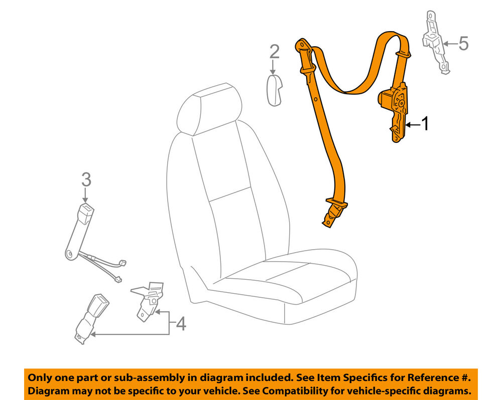 hight resolution of details about gm oem front seat belt retractor left 19181022