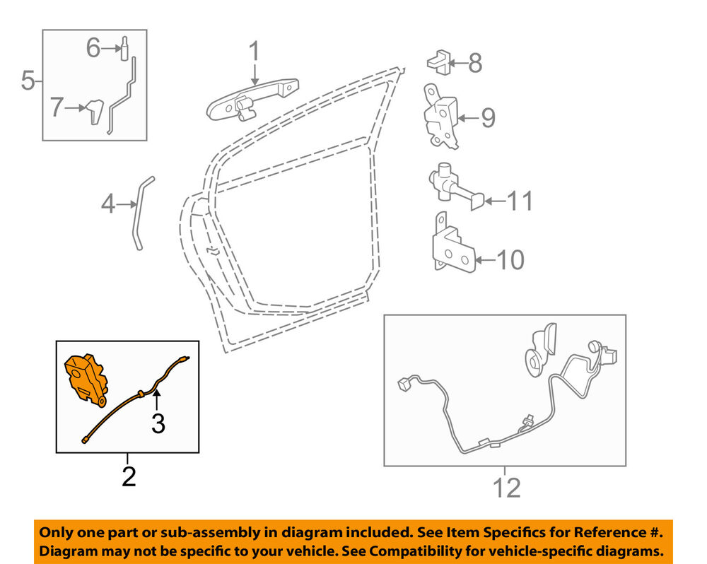 hight resolution of details about buick gm oem 06 10 lucerne rear door lock actuator motor 20790498