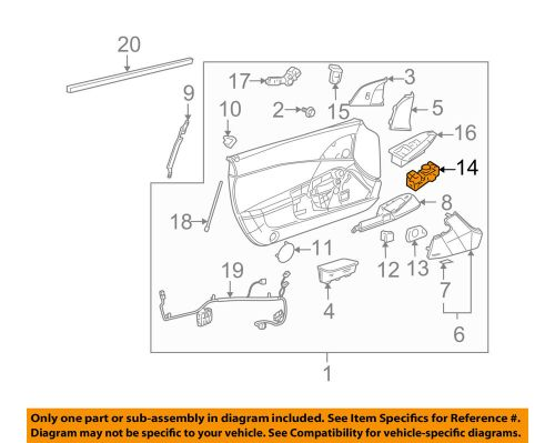 small resolution of details about chevrolet gm oem 05 13 corvette door window switch 20794872