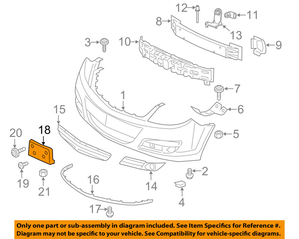 hight resolution of details about saturn gm oem 07 09 aura license plate bracket mount holder 22725681