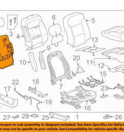 details about gm oem driver seat seat back panel 23365181 [ 1000 x 798 Pixel ]