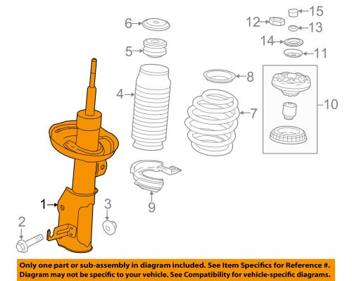small resolution of details about chevrolet gm oem 14 18 impala front suspension strut 23390191