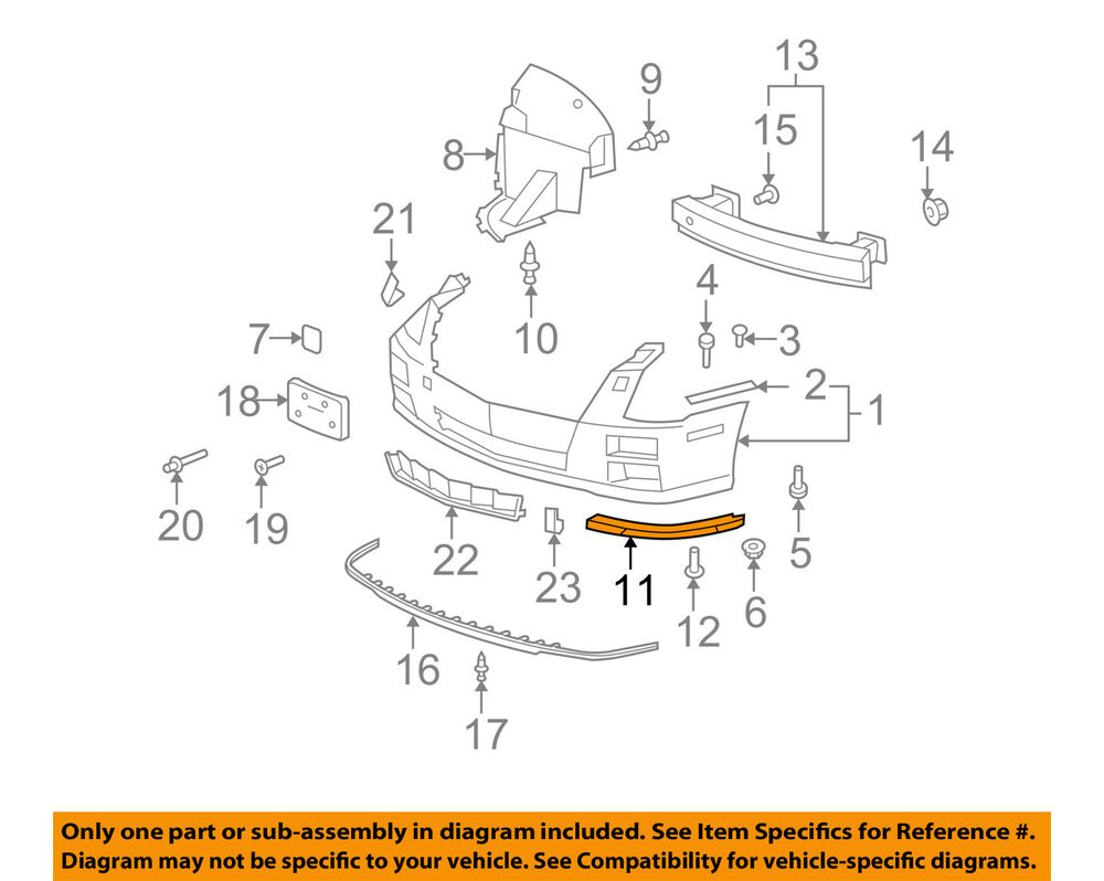hight resolution of details about cadillac gm oem 08 11 sts front bumper lower support right 25786156