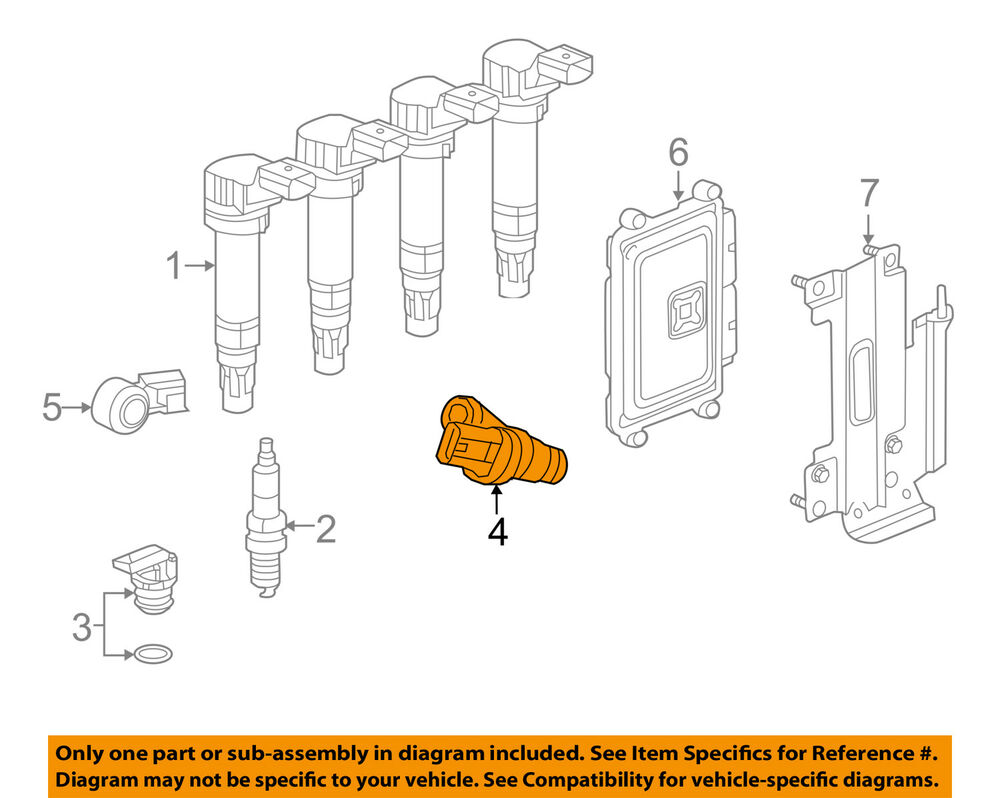 medium resolution of details about chevrolet gm oem spark engine crankshaft crank position sensor cps 25185280