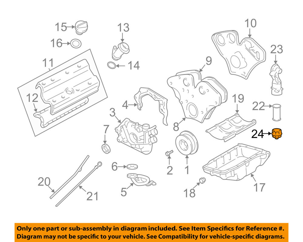 medium resolution of cadillac gm oem 03 04 cts 3 2l v6 engine cap 24415390 ebay diagram of engine 4 5 liter cadillac