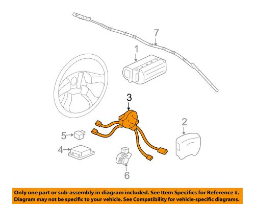 small resolution of details about gm oem airbag air bag clockspring clock spring 26094620