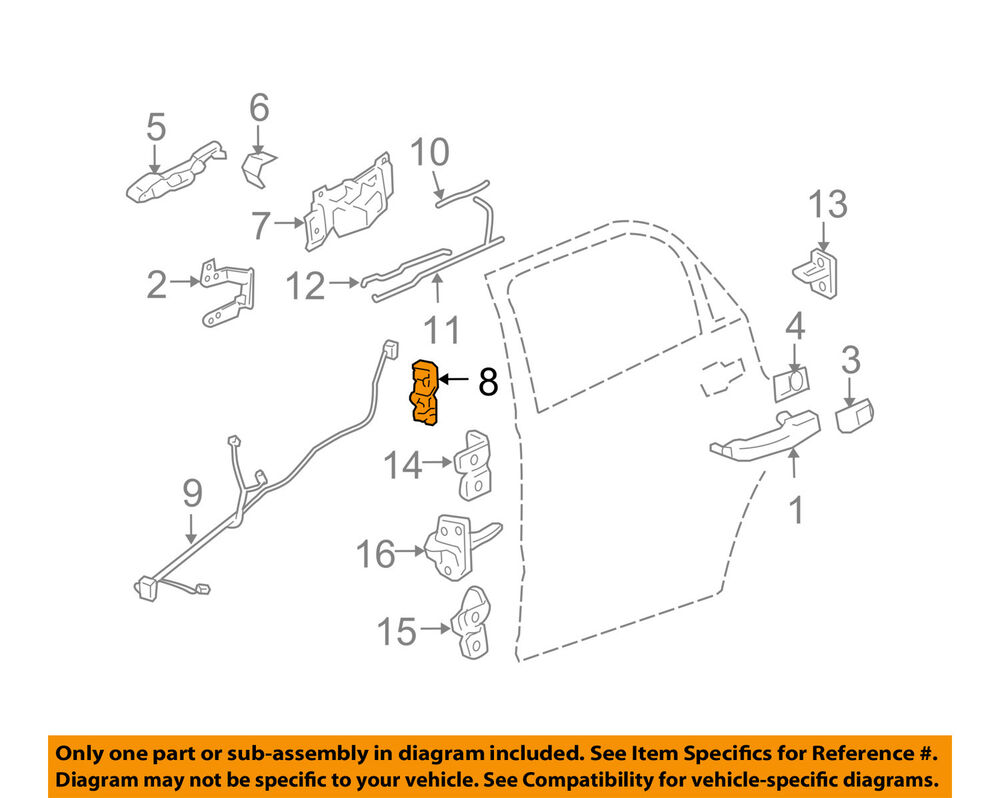 hight resolution of details about gm oem rear door lock actuator motor 88980999