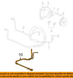 details about chevrolet gm oem 00 05 monte carlo pump hose power steering cooler tube 10306242 [ 1000 x 798 Pixel ]