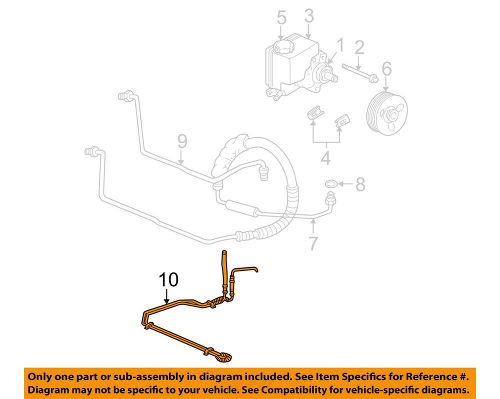 hight resolution of details about chevrolet gm oem 00 05 monte carlo pump hose power steering cooler tube 10306242