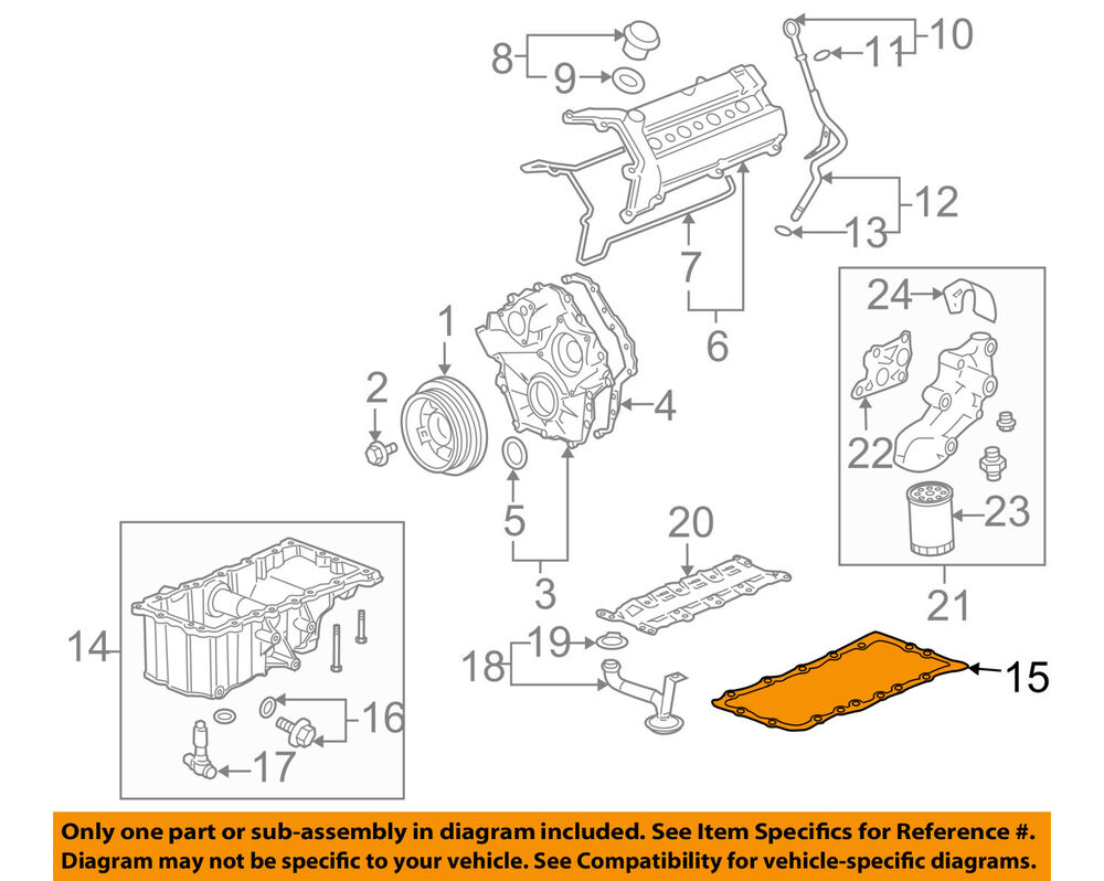medium resolution of details about cadillac gm oem 04 09 xlr engine oil pan gasket 12568928