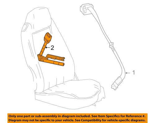 small resolution of details about chevrolet gm oem 06 12 corvette front seat belt buckle end right 19151078