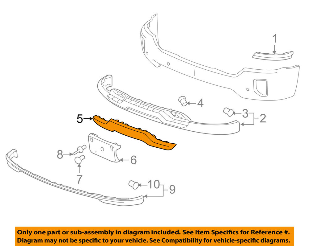 hight resolution of details about chevrolet gm oem 16 18 silverado 1500 front bumper skid plate 23243083