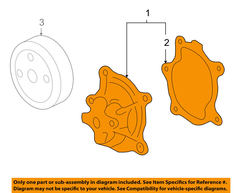 hight resolution of details about gm oem engine water pump 89060479