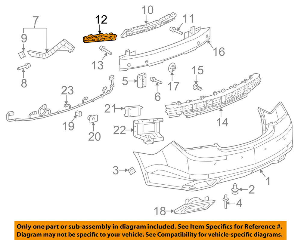 hight resolution of details about buick gm oem 14 16 lacrosse rear bumper outer support right 9014763