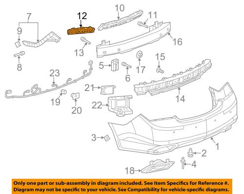 small resolution of details about buick gm oem 14 16 lacrosse rear bumper outer support right 9014763