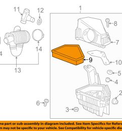 details about cadillac gm oem 09 10 cts engine air cleaner filter element 25898499 [ 1000 x 798 Pixel ]