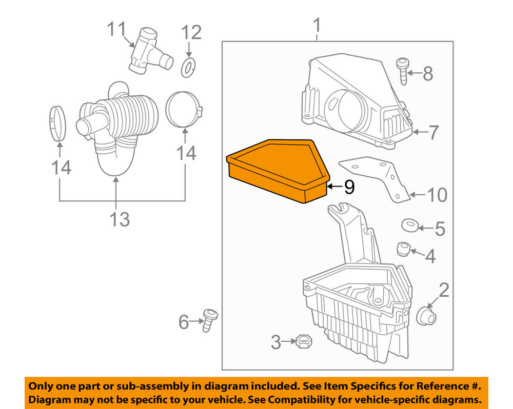 hight resolution of details about cadillac gm oem 09 10 cts engine air cleaner filter element 25898499
