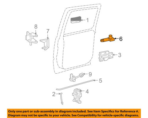 small resolution of details about gm oem front door lock actuator motor 25664288