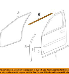 details about cadillac gm oem front door belt weatherstrip weather strip seal left 15224676 [ 1000 x 798 Pixel ]