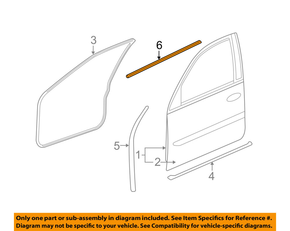 medium resolution of details about cadillac gm oem front door belt weatherstrip weather strip seal left 15224676