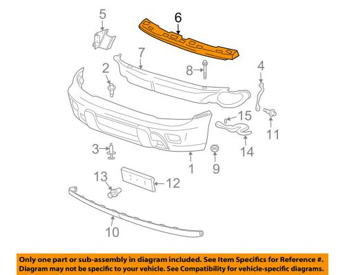 small resolution of details about chevrolet gm oem 06 09 trailblazer front bumper spacer support bracket 19120214