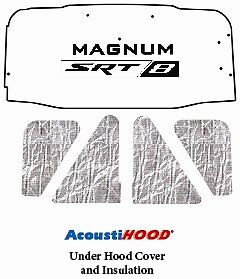 2005 2008 Dodge Magnum Under Hood Cover with MM-008 SRT 8