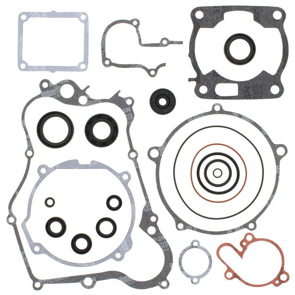Yamaha YZ 125, 1990-1991, Complete/Full Gasket Set with