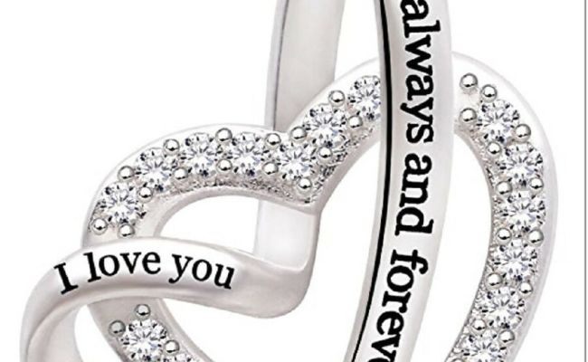 Sterling Silver Necklace Gift For Her I Love You Heart