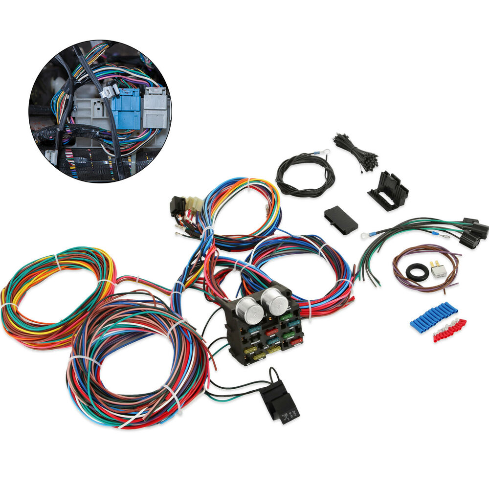 hight resolution of real 12 circuit street rod wiring harness standard panel