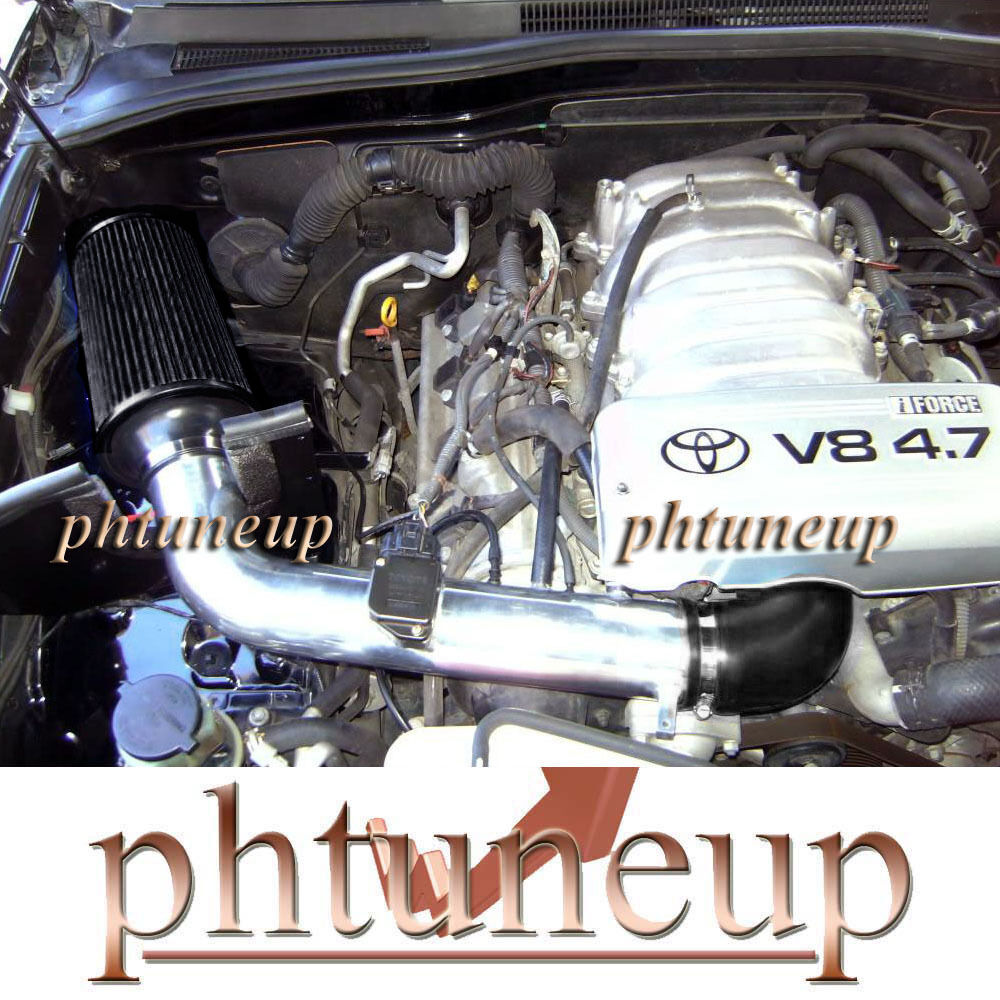 hight resolution of details about black air intake kit fit 2000 2004 toyota tundra sequoia 4 7l sr5 ltd engine