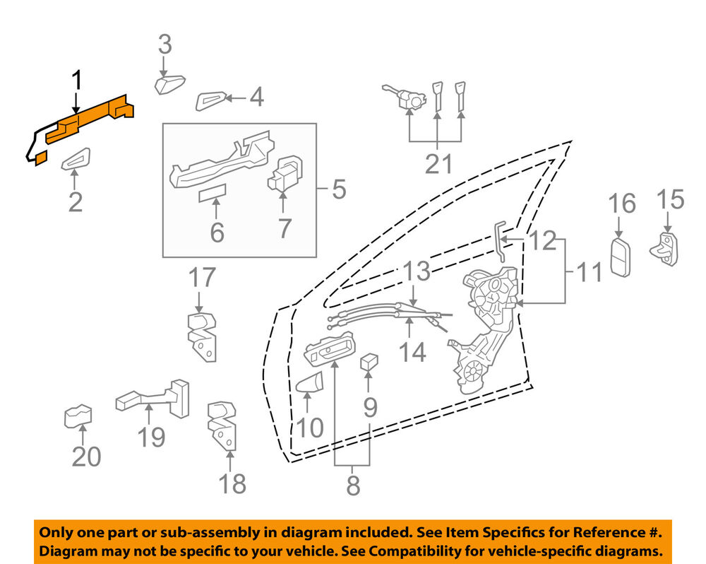 hight resolution of details about lexus toyota oem 07 16 ls460 outside exterior door handle left 6922033060