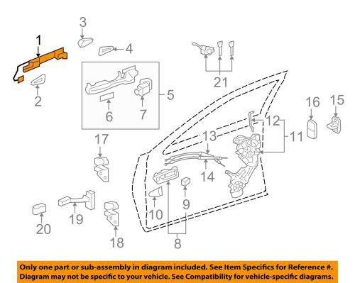 small resolution of details about lexus toyota oem 07 16 ls460 outside exterior door handle left 6922033060