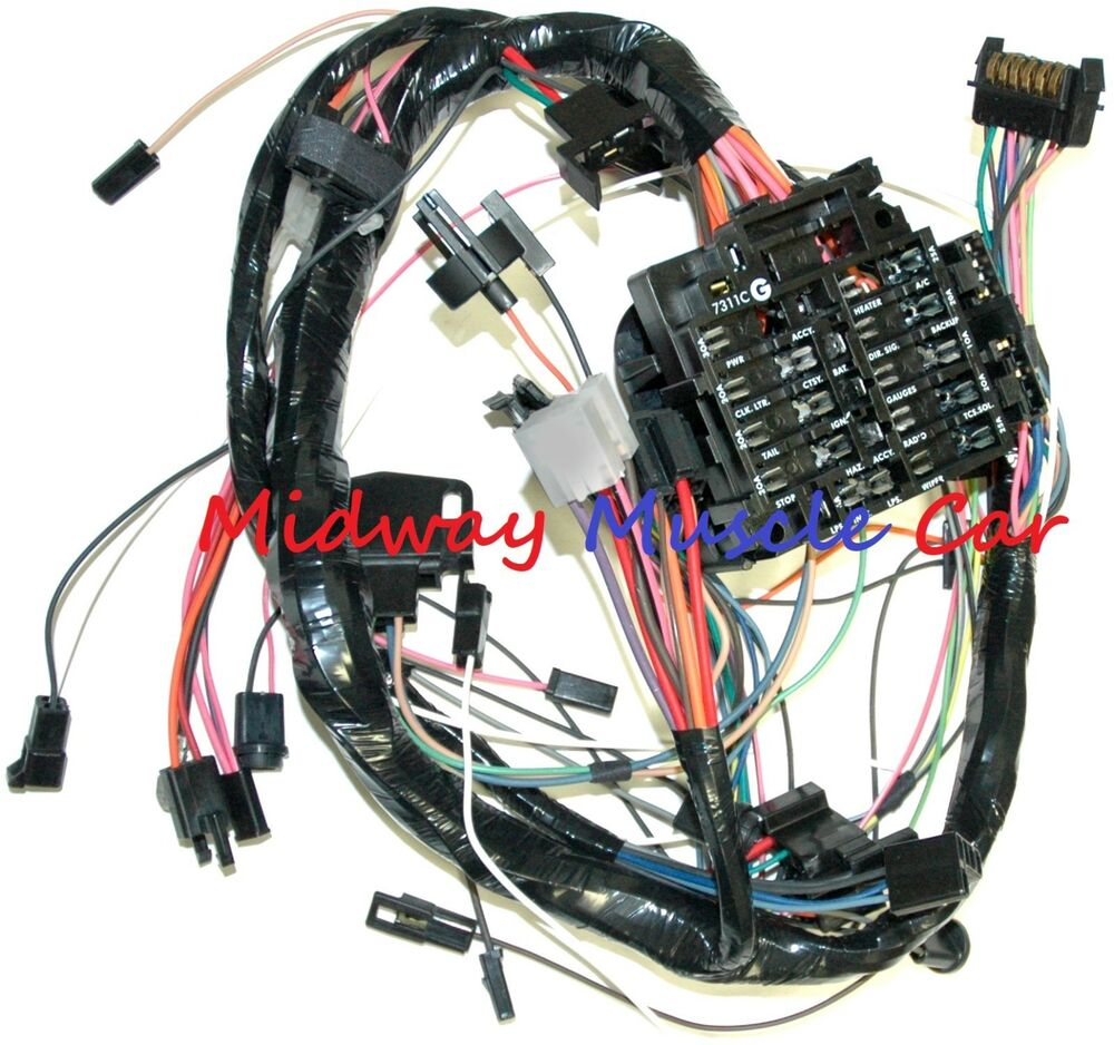medium resolution of details about dash wiring harness with fuse block 79 80 chevy camaro