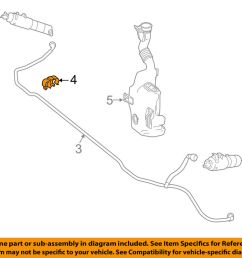 details about mercedes mercedes benz oem washer headlight head light hose clip 0039952877 [ 1000 x 798 Pixel ]