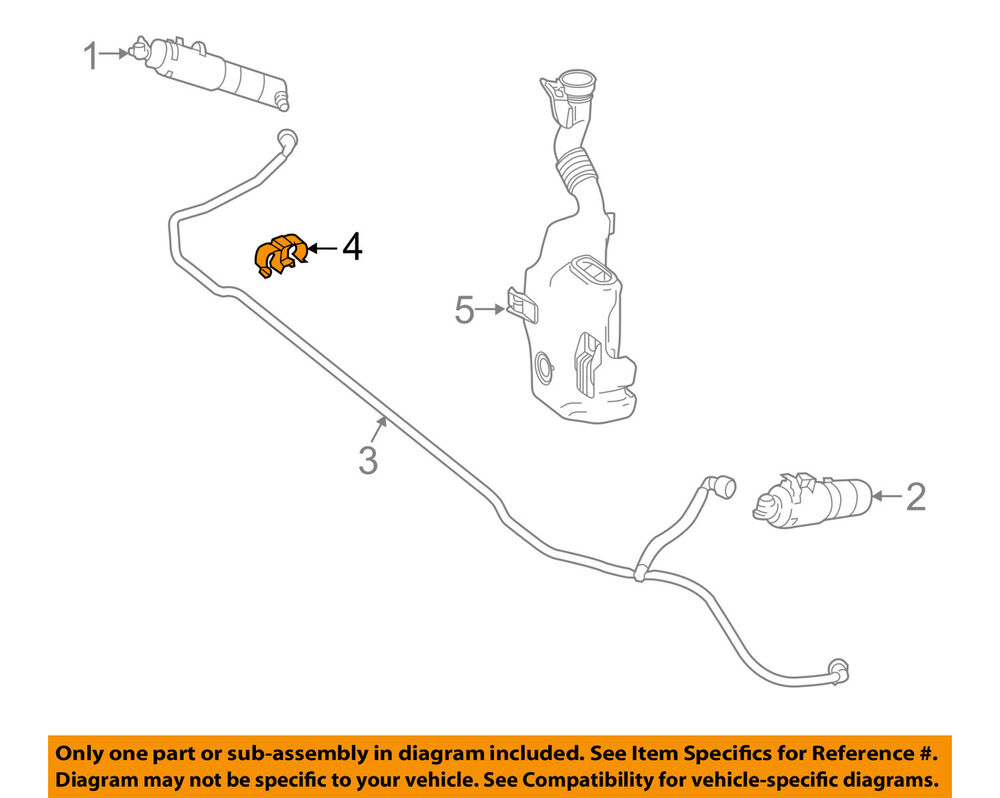 hight resolution of details about mercedes mercedes benz oem washer headlight head light hose clip 0039952877
