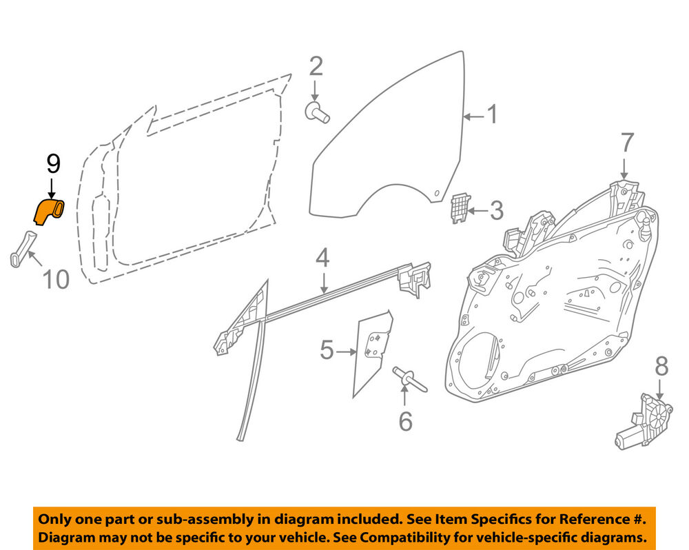 hight resolution of details about mercedes oem 12 18 cls550 front door harness shield right 2187221049