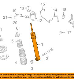 details about bmw oem 05 06 x5 rear strut shock 33526761928 [ 1000 x 798 Pixel ]