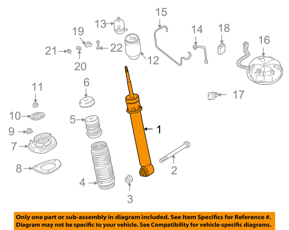 medium resolution of details about bmw oem 05 06 x5 rear strut shock 33526761928